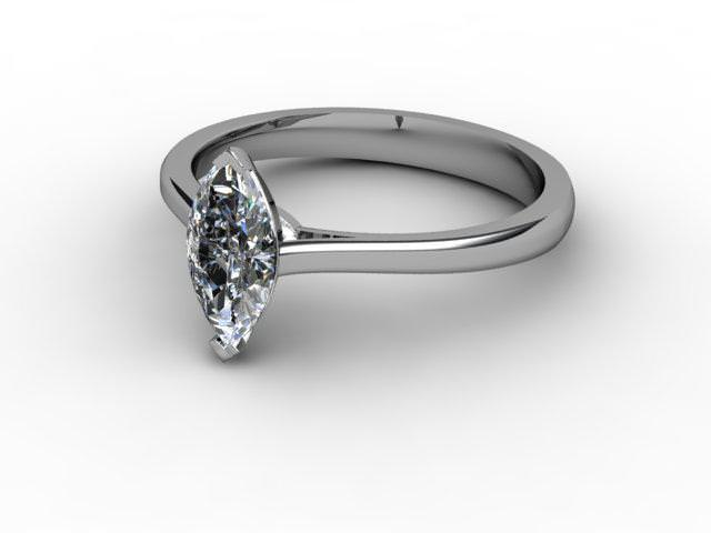 Certificated Marquise Diamond Solitaire Engagement Ring in Palladium