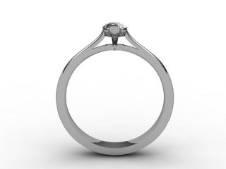 Certificated Marquise Diamond Solitaire Engagement Ring in Palladium - 6