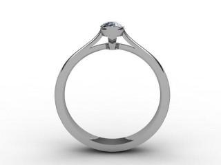 Certificated Marquise Diamond Solitaire Engagement Ring in Palladium - 3