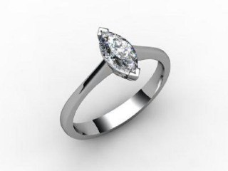 Certificated Marquise Diamond Solitaire Engagement Ring in Palladium - 12
