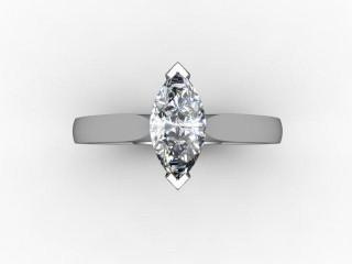Certificated Marquise Diamond Solitaire Engagement Ring in Palladium - 9