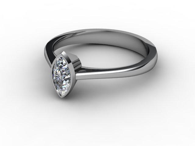 Certificated Marquise Diamond Solitaire Engagement Ring in Palladium