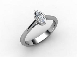 Certificated Marquise Diamond Solitaire Engagement Ring in Palladium - 12