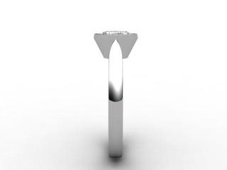 Certificated Marquise Diamond Solitaire Engagement Ring in Palladium - 6