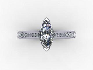 Certificated Marquise Diamond in Palladium - 9