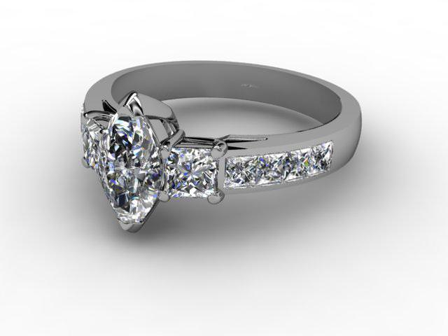Certificated Marquise Diamond in Palladium - Main Picture