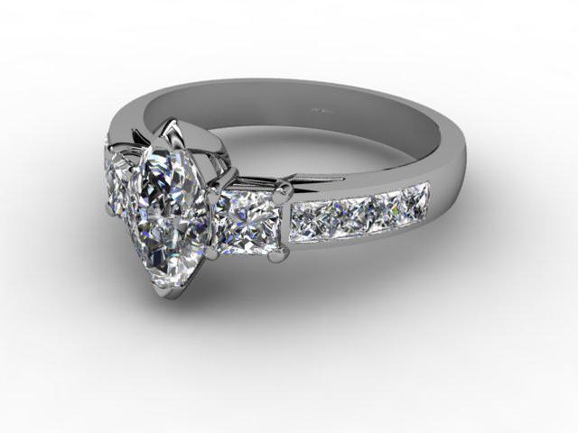 Certificated Marquise Diamond in Palladium