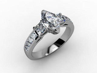 Certificated Marquise Diamond in Palladium - 12