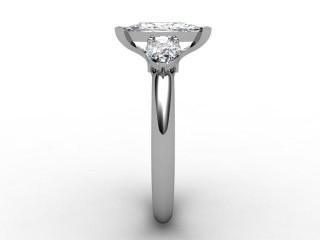 Trilogy Palladium Marquise & Pearshape Diamond - 9
