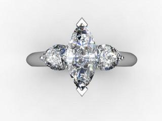Trilogy Palladium Marquise & Pearshape Diamond - 12