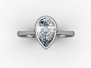 Certificated Pear Shape Diamond Solitaire Engagement Ring in Platinum - 9