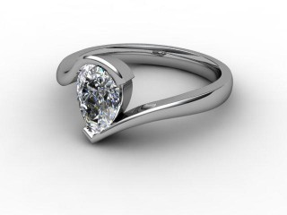 Certificated Pear Shape Diamond Solitaire Engagement Ring in Platinum-08-0100-0004