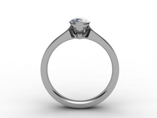 Certificated Pear Shape Diamond Solitaire Engagement Ring in Platinum - 6