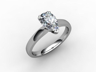 Certificated Pear Shape Diamond Solitaire Engagement Ring in Platinum - 15