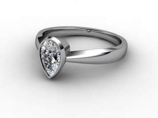 Certificated Pear Shape Diamond Solitaire Engagement Ring in Platinum
