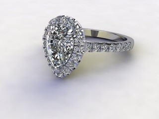 Certificated Pear Shape Diamond in Platinum