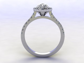 Certificated Pear Shape Diamond in Platinum - 3
