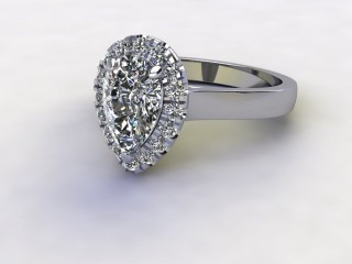 Certificated Pear Shape Diamond in Platinum-08-0100-8939