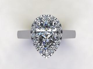 Certificated Pear Shape Diamond in Platinum - 9