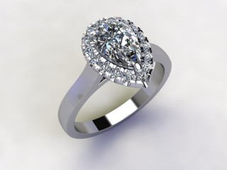 Certificated Pear Shape Diamond in Platinum - 12