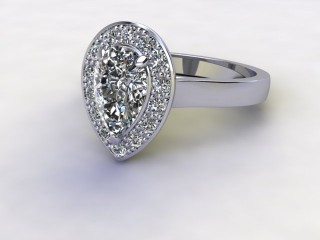 Certificated Pear Shape Diamond in Platinum-08-0100-8940
