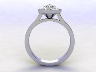 Certificated Pear Shape Diamond in Platinum - 3