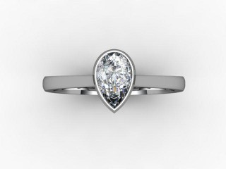 Certificated Pear Shape Diamond in Platinum - 9
