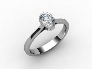 Certificated Pear Shape Diamond in Platinum - 12