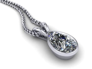 Certified Pearshape Diamond Pendant