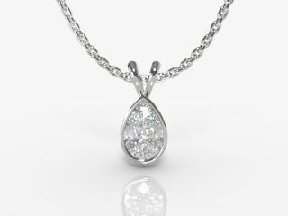 Certified Pearshape Diamond Pendant -08-01912