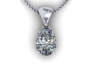 Certified Pearshape Diamond Pendant  - 9