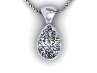 Certified Pearshape Diamond Pendant  - 9