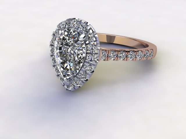 Certificated Pear Shape Diamond in 18ct. Rose Gold