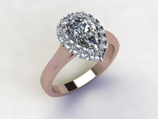 Certificated Pear Shape Diamond in 18ct. Rose Gold - 12