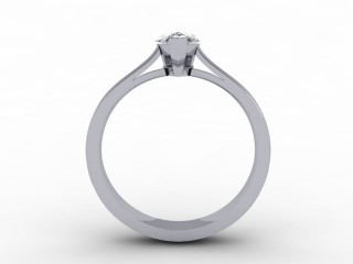 Certificated Pear Shape Diamond Solitaire Engagement Ring in 18ct. White Gold - 6