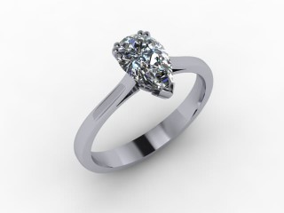 Certificated Pear Shape Diamond Solitaire Engagement Ring in 18ct. White Gold - 15