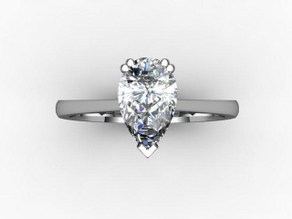 Certificated Pear Shape Diamond Solitaire Engagement Ring in 18ct. White Gold - 9