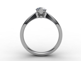 Certificated Pear Shape Diamond Solitaire Engagement Ring in 18ct. White Gold - 3