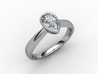 Certificated Pear Shape Diamond Solitaire Engagement Ring in 18ct. White Gold - 12