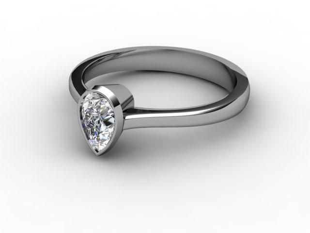 Certificated Pear Shape Diamond in 18ct. White Gold