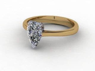 Certificated Pear Shape Diamond Solitaire Engagement Ring in 18ct. Gold-08-2800-0001
