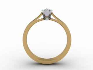 Certificated Pear Shape Diamond Solitaire Engagement Ring in 18ct. Gold - 6