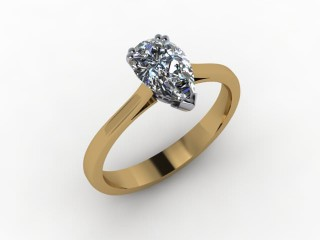 Certificated Pear Shape Diamond Solitaire Engagement Ring in 18ct. Gold - 15
