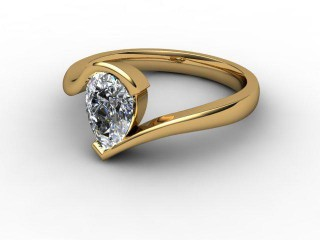 Certificated Pear Shape Diamond Solitaire Engagement Ring in 18ct. Gold-08-2800-0004