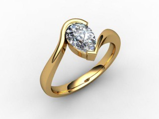 Certificated Pear Shape Diamond Solitaire Engagement Ring in 18ct. Gold - 12