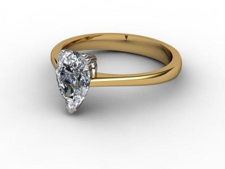 Certificated Pear Shape Diamond Solitaire Engagement Ring in 18ct. Gold-08-2800-0005