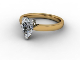 Certificated Pear Shape Diamond Solitaire Engagement Ring in 18ct. Gold-08-2800-0006
