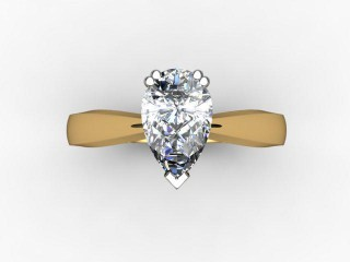 Certificated Pear Shape Diamond Solitaire Engagement Ring in 18ct. Gold - 9