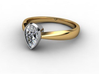 Certificated Pear Shape Diamond Solitaire Engagement Ring in 18ct. Gold-08-2800-0011