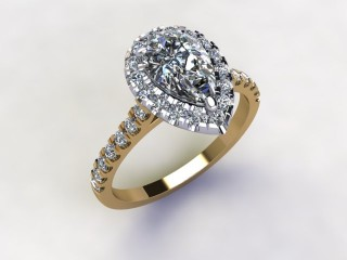 Certificated Pear Shape Diamond in 18ct. Gold - 12